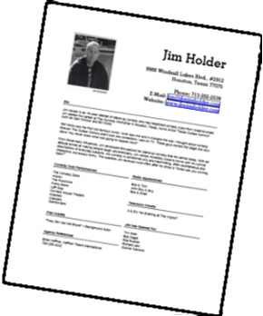 jim holder media standup comedian jim holder - Resume Holder
